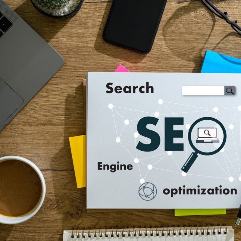 Computer Laptop Searching Engine Optimizing SEO  technology concept